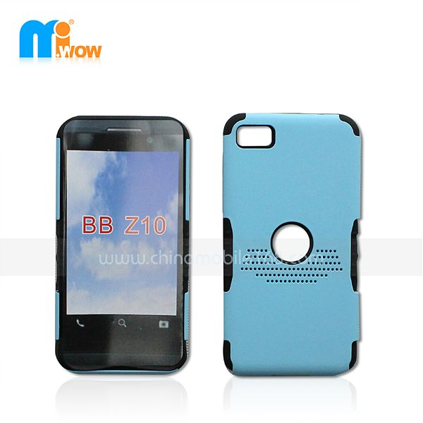 PC+silicon 2 in 1 case for Blackberry Z10