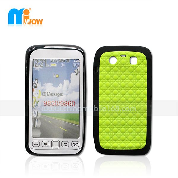 PC + TPU Funda 2 en 1 para Blackberry 9850