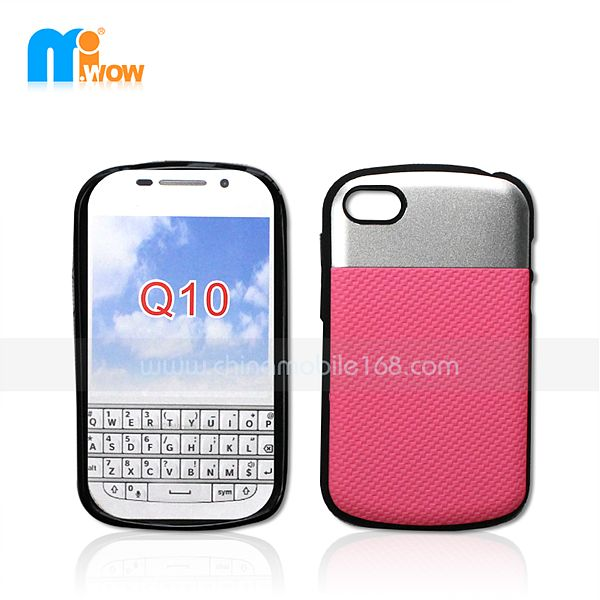 PC + TPU Funda 2 en 1 para Blackberry Q10