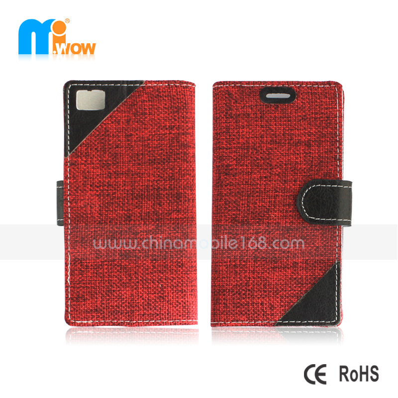 Fashion fabric-like flip cover for Z10