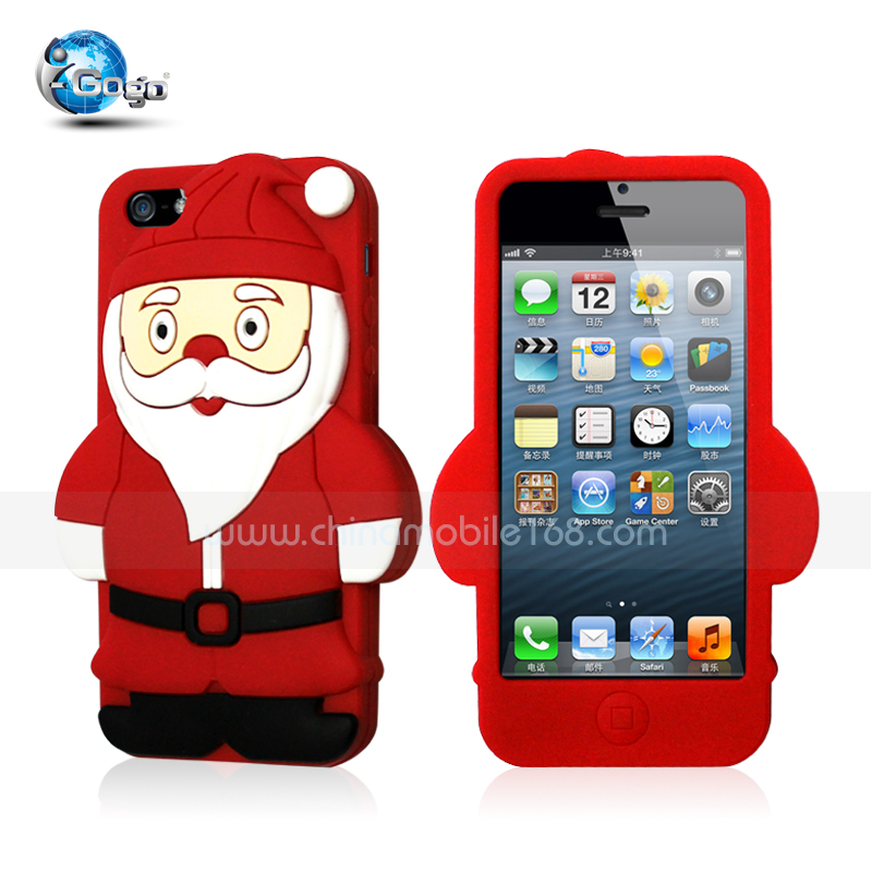 Santa Claus silicon case for iphone 5