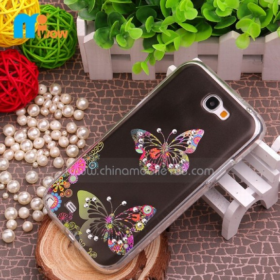 Wholesale phone covers for samsung,diamond TPU cases for galaxy NOTE 2