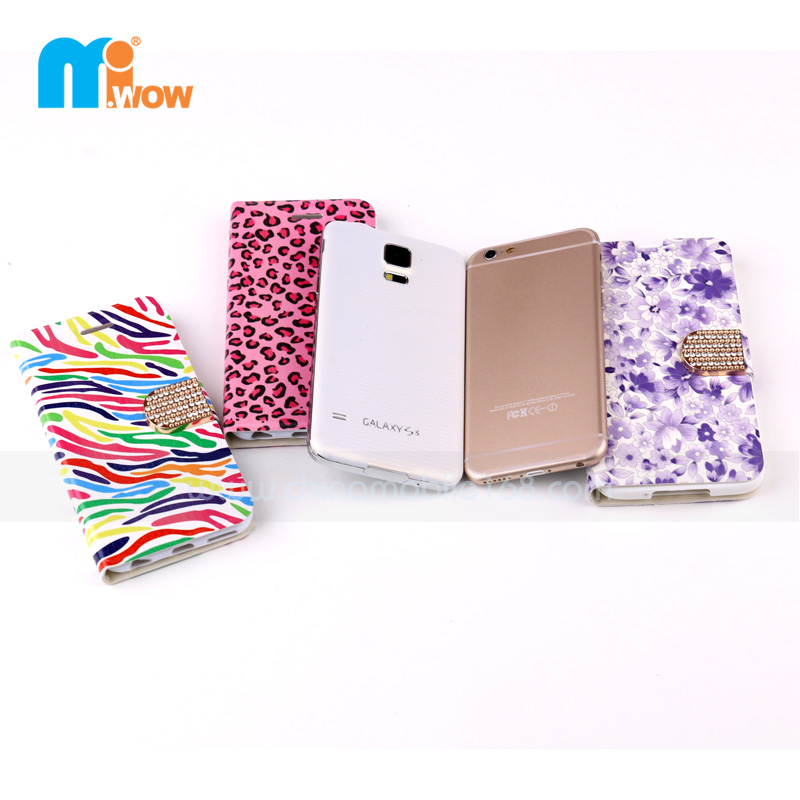 flip cover with diamond button for iPhone 5s