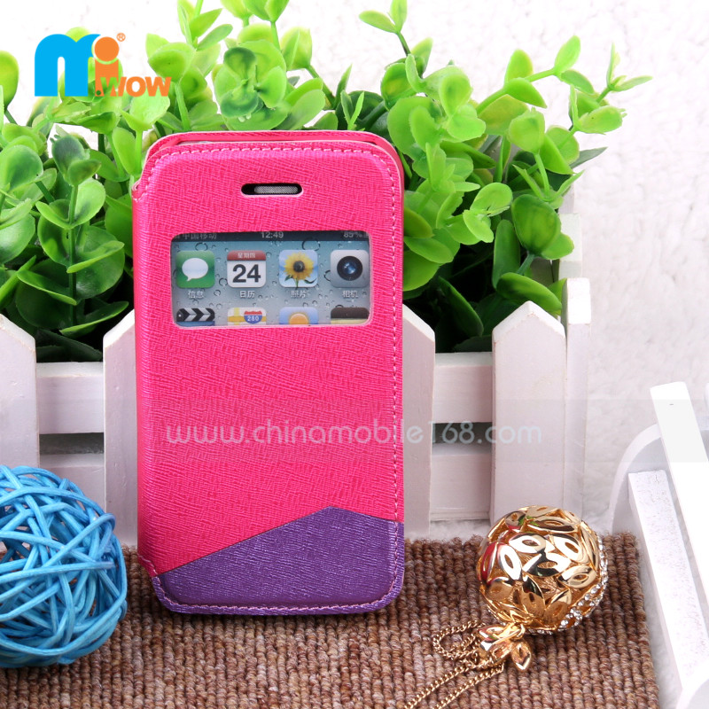 Funda de PC+PU para iPhone 4/4S