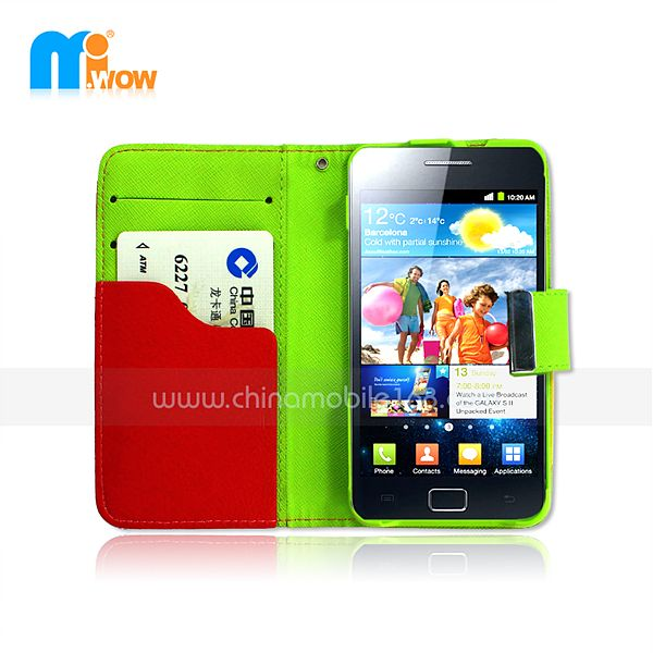 pc+pu flip cover for Samsung i9100