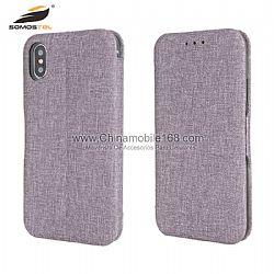 Luxury magnetic cotton cloth stand case for Samsung S8/S9