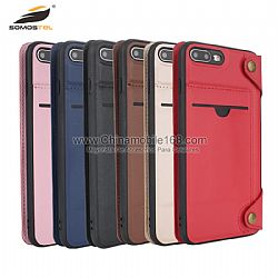 Commercial style removable leather case with card slot for LG G6/K10