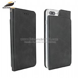 Wholesale solid color flip PU leather case with wallet for LG K4/Q7