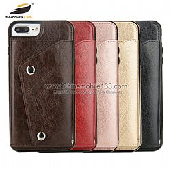 Flip Cover En PU Con Borde biselado Y Cartera para Iphone/Samsung