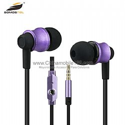 Mic and Remote Noise Isolating In-Ear BJ-806 Hifi Stereo Earphones for all smartphones