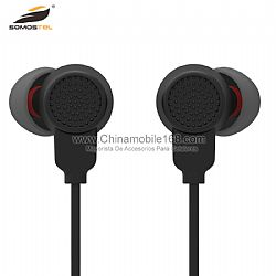 High quality black in-ear headphones bult-in mic