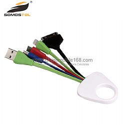 Four in One Multifunctional Mobile Phone Keychain Charging USB Data Cable for Iphone Android
