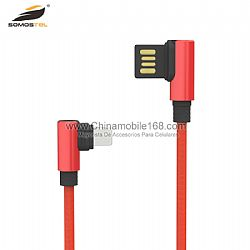 Cable de datos lateral doble del puerto de USB de alta calidad  para el cargador de Iphone