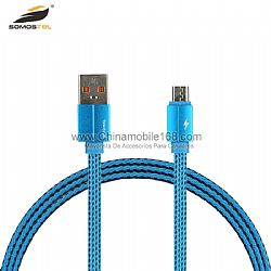 Wholesale 100cm cotton braided usb data cord for Type-C/V8