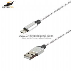 2A dual color nylon braided zinc alloy data usb cable