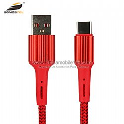 Cable USB de datos trenzados de nylon 3.6A para teléfono inteligente / tableta / PC