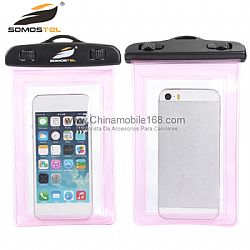 Universal Cell Phone Waterproof Bags Wholesale Transparent Pink