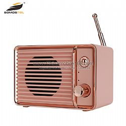 Classic radio-shaped  mini wireless speaker with strong FM function
