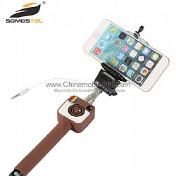 Mini Cartoon Wire Control Selfie Stick Supplier