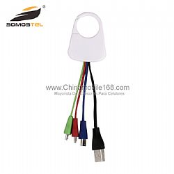 Keychain data sync cable 4 in 1 micro usb charger cable for samsung for iPhone 4 5 6