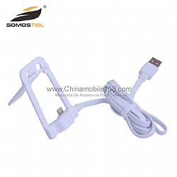 2 in 1 USB charging data cable with stand holder for iphone Samsung
