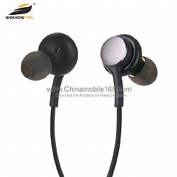 Good quality flexible ear gels earphone with 3.5mm stereo plug