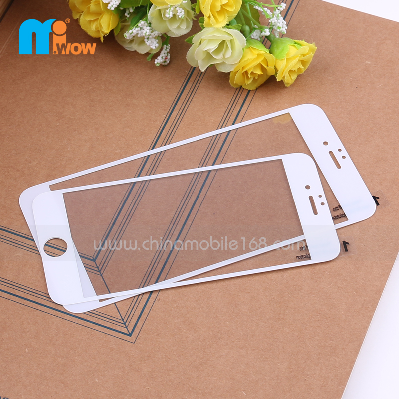 White Tempered Glass Screen Protector for iPhone 5/ 6