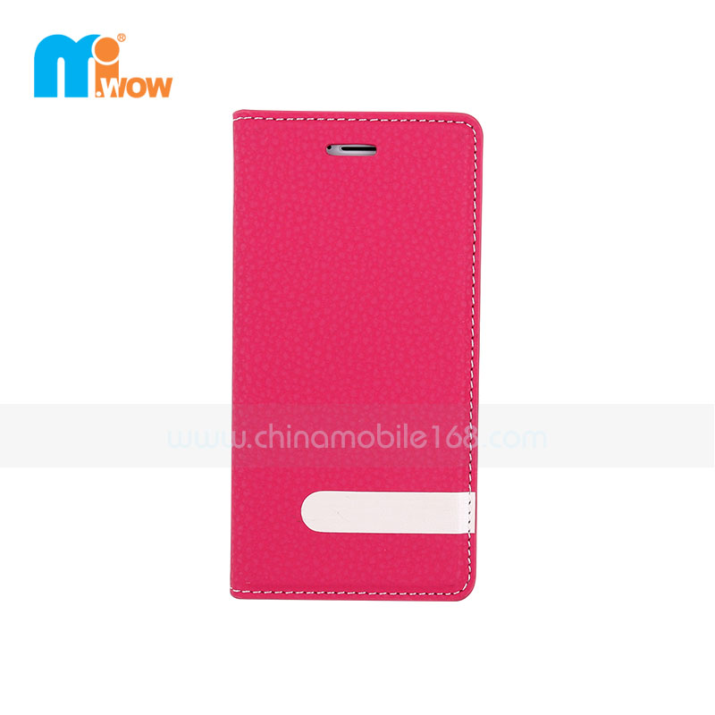 Red Flip PU Leather Magnetic Case for Iphone 6