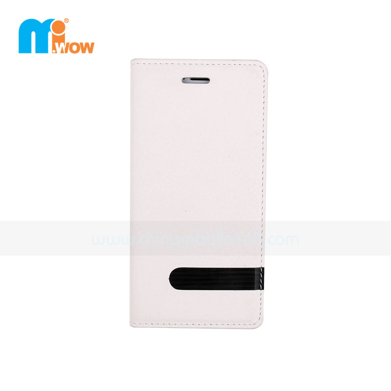 White Flip PU Leather Magnetic Case for Iphone 6
