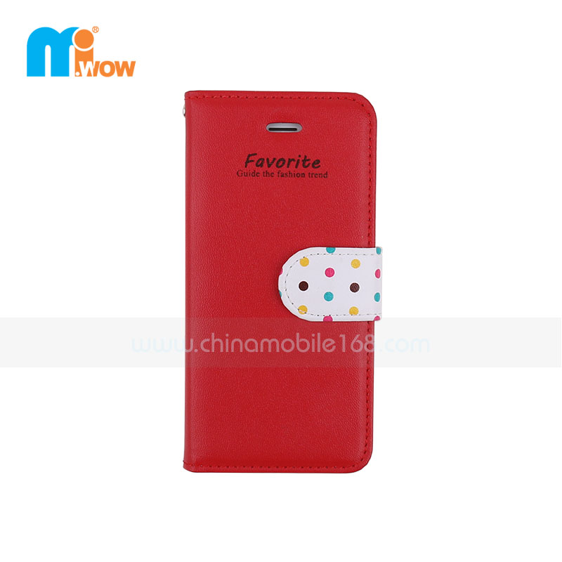 Red Wallet Card Holder Flip Case