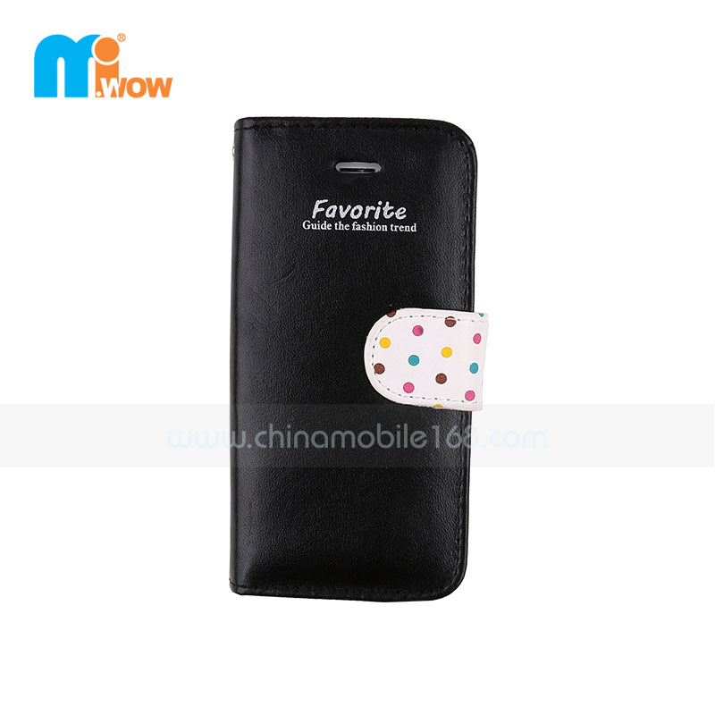 Black Wallet Card Holder Flip Case