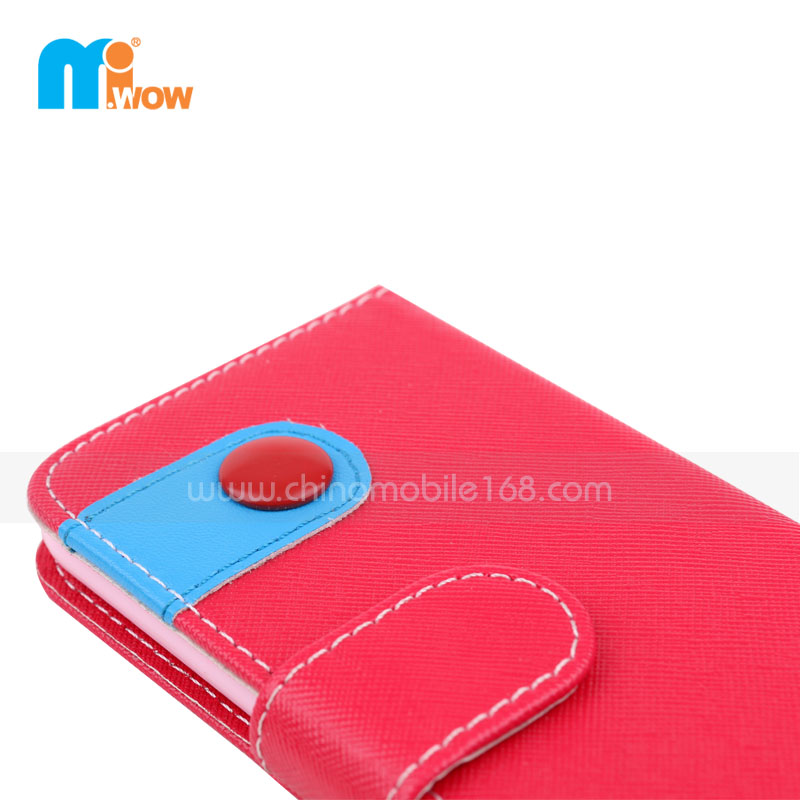 Red Faux Leather Wallet Iphone 6 Case