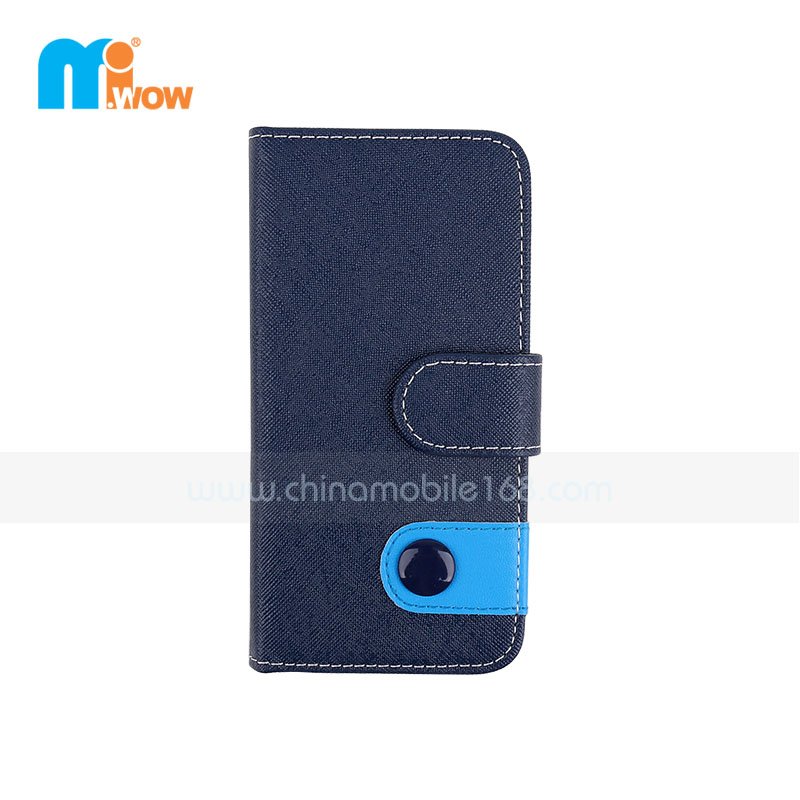 Blue Faux Leather Wallet Iphone 6 Case