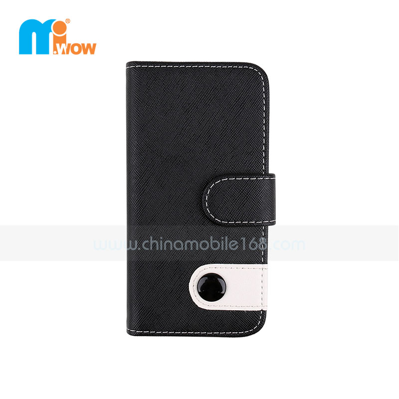 Black Faux Leather Wallet Iphone 6 Case