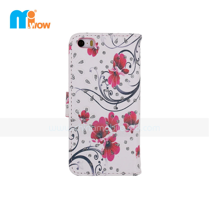 Floral Pattern Stand Wallet for Iphone 6