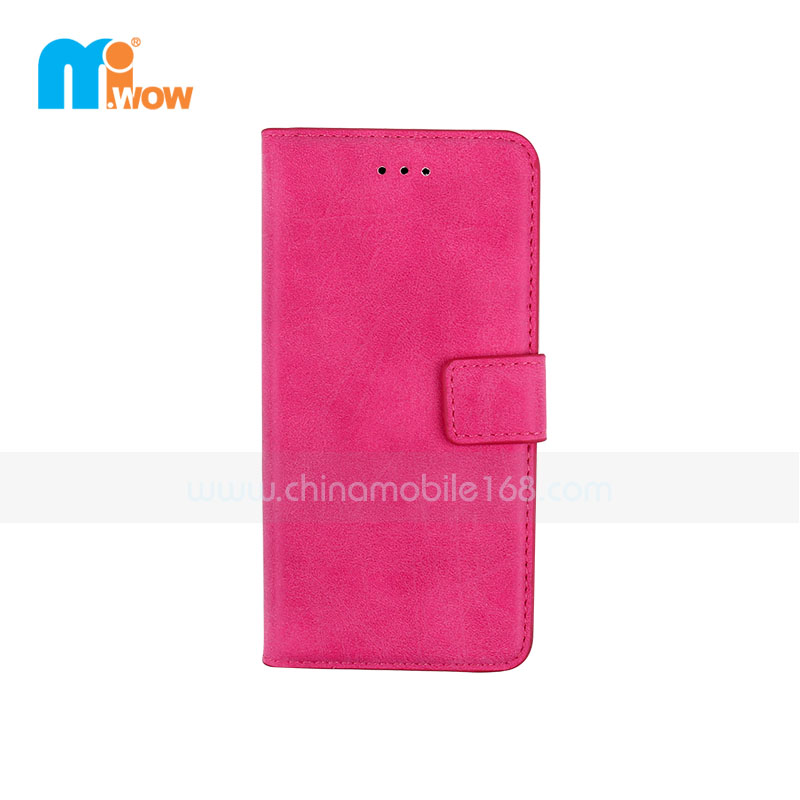 Rose Red Retro PU Leather Case For Apple Iphone 6