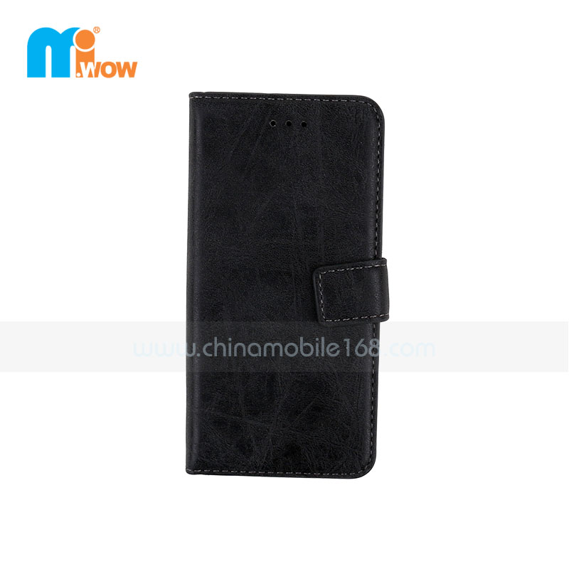 Retro PU Leather Case For Apple Iphone 6 Black