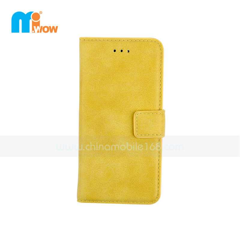 Yellow Retro PU Leather Case For Apple Iphone 6