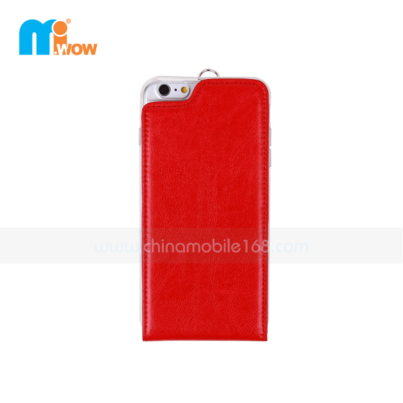 Iphone Flip Up and Down Wallet TPU Leather Protector Case