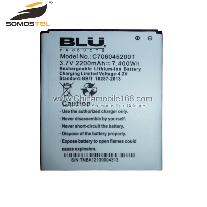 Battery for BLU 3.7V 2200mAh C706045200T