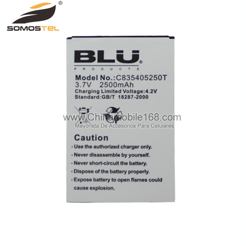 Battery for BLU 3.7V 2500mAh C835405250T
